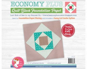 Foundation Paper Pad - Economy PLUS Quilt Block 12in - by Lori Holt - Its Sew Emma - Paper Pad - 12in - ( ISE-761 )