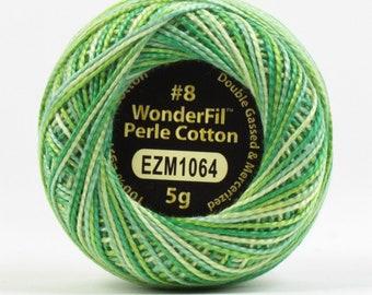 Eleganza 8wt 5-Gram Variegated Perle Cotton Ball - 42yd - Spring Green - Green - ( EL5GM-1064 )