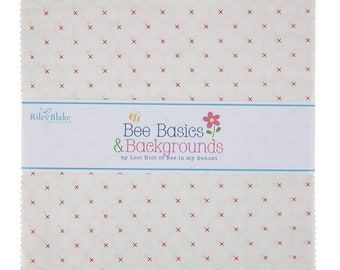 """Bee Backgrounds - 10"""" inch Stacker - Quilting Cotton Fabric - By Lori Holt of Bee in My Bonnet for Riley Blake Designs - ( 10-9940-42 )"""