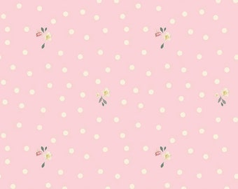 Rose & Violet's Garden Party - Blush - Quilting Cotton Fabric - by Miss Rose and Sister Violet for Riley Blake Designs - ( C10415-BLUSH )