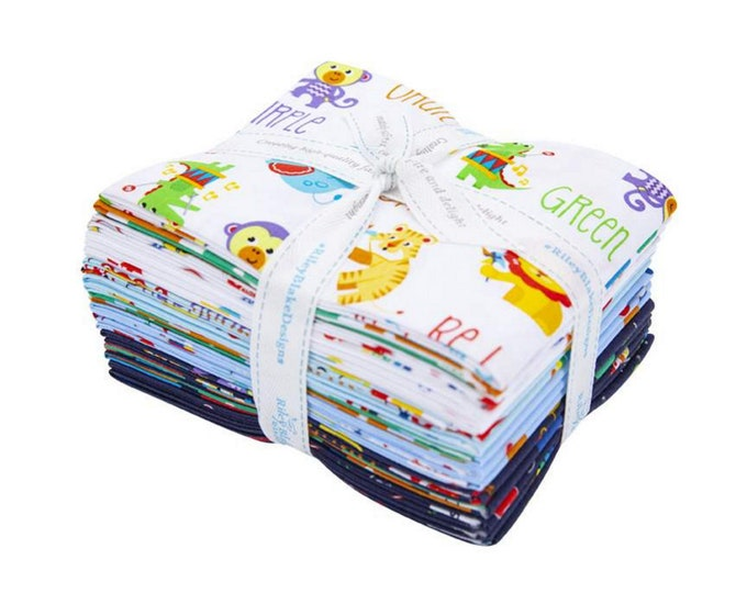 Fisher Price - Fat Quarter Bundle - 15 Fabrics - Quilting Fabric - Riley Blake Designs - (FQ-9760-15 )