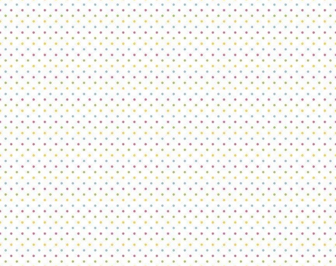 Girl - Swiss Dot on White - Polka Dot - Quilting Cotton Fabric - Riley Blake Designs - ( C660-03-GIRL )
