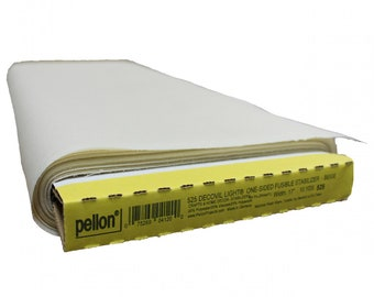 """Decovil - Light - One Sided - Fusible Stabilizer - Beige - one sided fusible - 17"""" inches wide - Pellon - ( P525 )"""