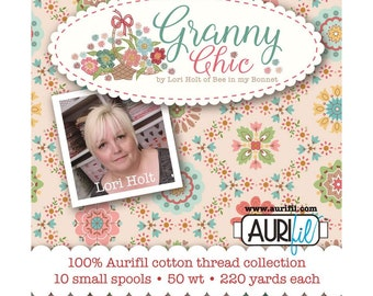 Aurifil Thread Box - Prim Collection - by Lori Holt of Bee in My Bonnet for Riley Blake Designs - ( TH-LH50GC10 )