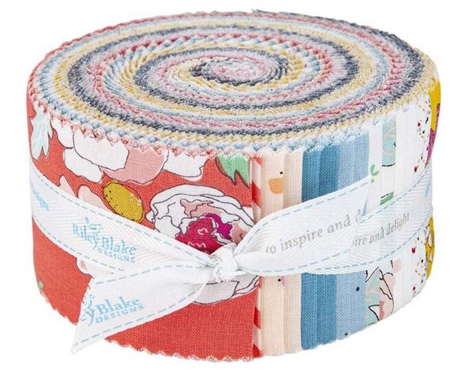 Idyllic - Rolie Polie - 40 Strips - Quilting Cotton Fabric - by Minki Kim for Riley Blake Designs - ( RP-9880-40 )