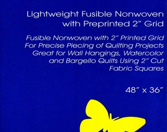 """Quilter's Grid - 2"""" inch - Fusible Interfacing - 48"""" inches x 1 Yard: 36"""" x 48"""" - Bosal - ( 427B-WHT )"""