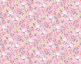 Easter Egg Hunt Collection - Pink - Floral - Quilting Cotton Fabric - by Natàlia Juan Abelló for Riley Blake Designs - ( C10274-PINK )
