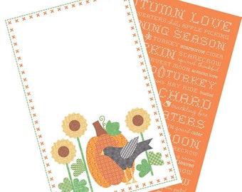 Autumn Love Tea Towel Set - by Lori Holt of Bee in My Bonnet Riley Blake Designs - ( TT-9846 )