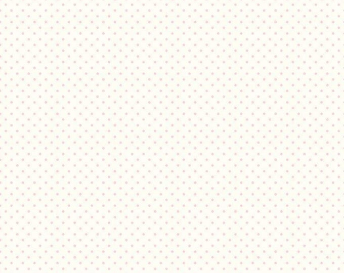 Baby Pink - Le Creme Swiss Dot - Polka Dot - Quilting Cotton Fabric - Riley Blake Designs - ( C600-75-BABYPINK )