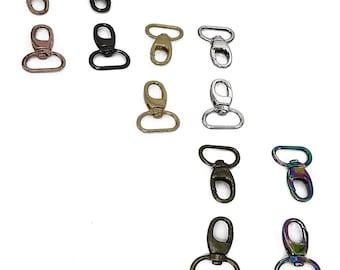 "Swivel Snap Hooks - 3/4"" inch - .75"" Inch - 18mm - Bag Hardware - Multiple Colors - by Emmaline - ( HOOK-3/4INCH )"