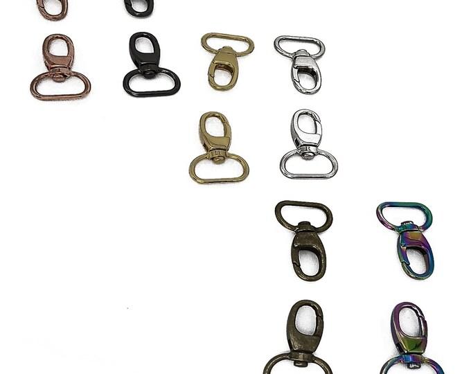 "Swivel Snap Hooks - 3/4"" inch - by Emmaline - .75"" Inch - 18mm - Multiple Colors - Bag Hardware - ( HOOK-3/4INCH )"