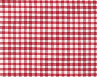 """Crimson - Gingham - 1/4"""" inch - Caronlina Gingham Collection - Yarn Dye - Quilting Cotton Fabric - by Robert Kaufman - ( P-16368-91 )"""