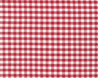 "SALE! - Carolina Gingham Collection - Crimson - 1/4"" inch - Yarn Dye - Quilting Cotton Fabric - by Robert Kaufman - ( P-16368-91 )"
