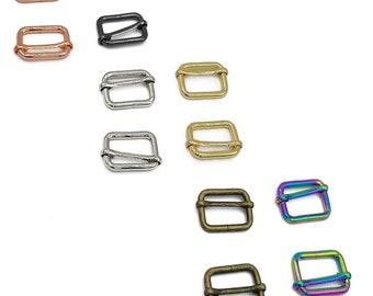 "Adjustable 1"" Slider - by Emmaline - 1 Inch - One Inch - 25mm - Multiple Colors - Bag Hardware - ( SLD-1INCH )"