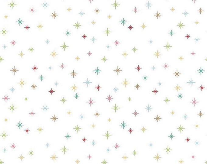 White - Cozy Christmas Sparkle - Quilting Cotton Fabric - by Lori Holt for Riley Blake Designs ( C5365-WHITE )