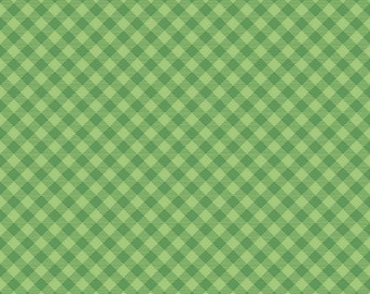 Cozy Christmas Collection - Green - Gingham - Quilting Fabric - by Lori Holt of Bee in My Bonnet for Riley Blake Designs - ( C7972-GREEN )