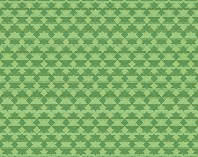 Green - Gingham - Cozy Christmas Collection - Quilting Fabric - Lori Holt of Bee in My Bonnet for Riley Blake Designs - ( C7972-GREEN )