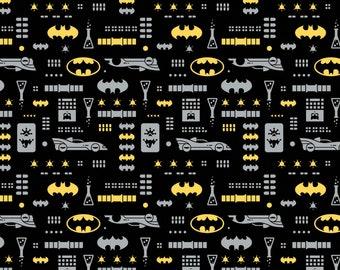 Batman - Young DC Comics - Black - 100% Cotton - Camelot Fabrics - ( CAM23421470-3 )
