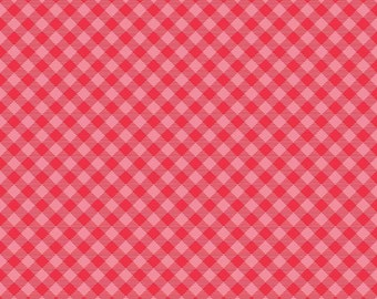 Cozy Christmas Collection - Pink - Gingham - Quilting Cotton Fabric - by Lori Holt of Bee in My Bonnet for Riley Blake Design-( C7972-PINK )