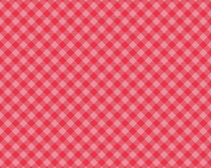 Pink - Gingham - Cozy Christmas Collection - Quilting Fabric - Lori Holt of Bee in My Bonnet for Riley Blake Designs - ( C7972-PINK )