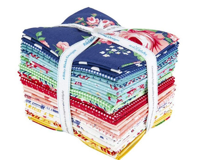 Notting Hill - Fat Quarter Bundle - 24 Fabrics - Quilting Fabric - by Amy Smart for Riley Blake Designs - ( FQ-10200-24 )