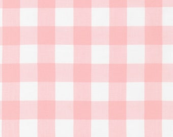 """Pink - Gingham - 1"""" inch - Caronlina Gingham Collection - Yarn Dye - Quilting Cotton Fabric - by Robert Kaufman - ( P-9811-107 )"""
