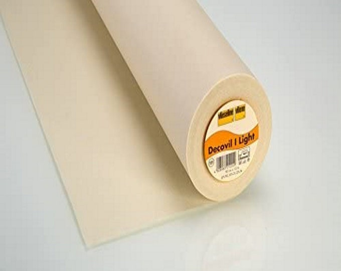 "Decovil - Light - *Please Read Listing Description* - Fusible Stabilizer - Beige - one sided fusible - 35"" inches wide - Pellon - ( P525R )"
