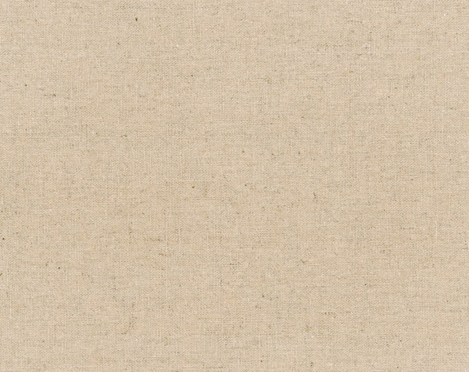 """Natural - Essex Canvas Collection - Essex Cotton Linen Canvas - 43/44"""" inches wide - by Robert Kaufman - ( E119-NATURAL )"""