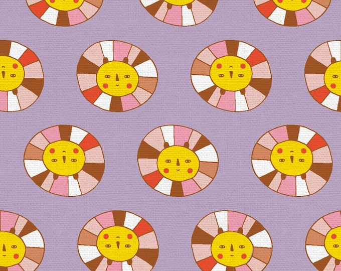 Purple - Lavender - Rainbow Lion - Step Right Up Collection - Quilting Cotton - by Suzy Ultman for Paintbrush Studios - ( PSF120-21352 )