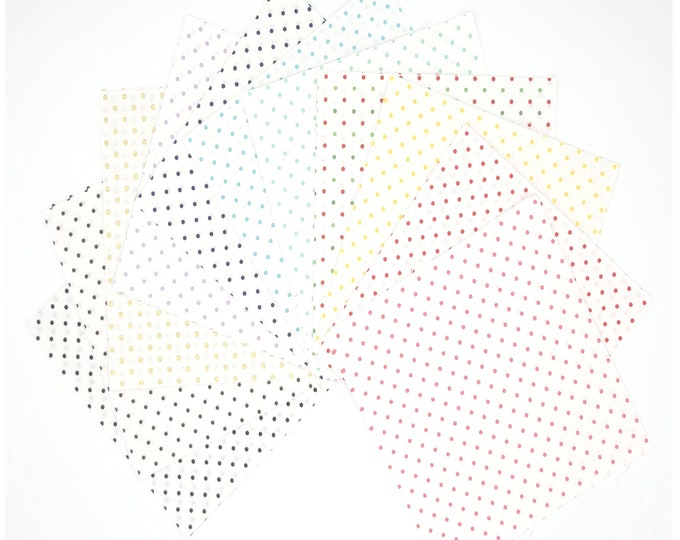Swiss Dot On White - 5 inch Stacker - Curated Bundle - 11 Colors of Riley Blake Designs Fabric