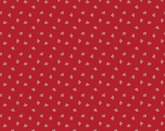 Barn Red - Blossom - Prim Collection - Quilting Cotton Fabric - Lori Holt of Bee in My Bonnet for Riley Blake Designs - ( C9691-BARNRED )