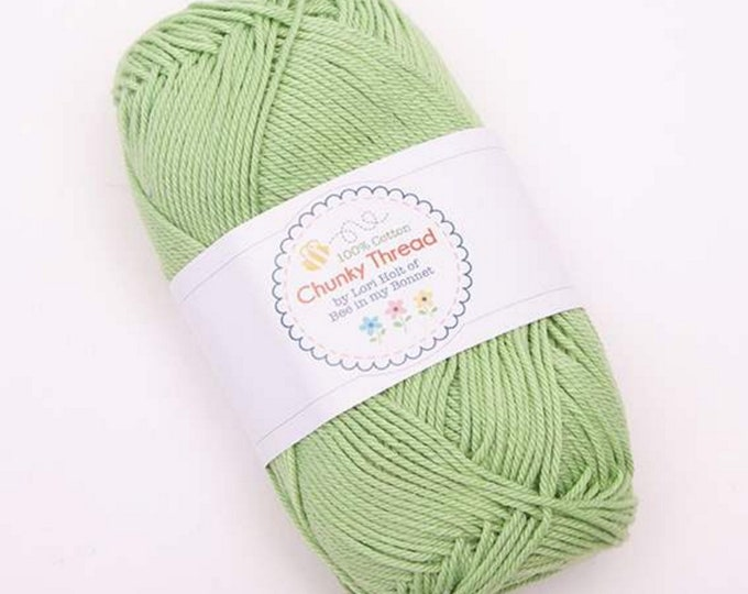 Chunky Thread - Green - Skein - Lori Holt of Bee in My Bonnet for Riley Blake Designs - ( STCT-2669 )