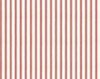 Snow Sweet Collection - Red - Candy Cane Ticking Stripe - Quilting Fabric - J. Wecker Frisch for Riley Blake Designs - ( C9670-RED )