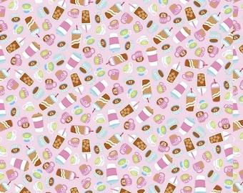 Rainbowfruit Collection - Petal Pink - Drinks - by Amber Kemp-Gerstel of Damask Love for Riley Blake Designs - ( C10894-PETALPINK )