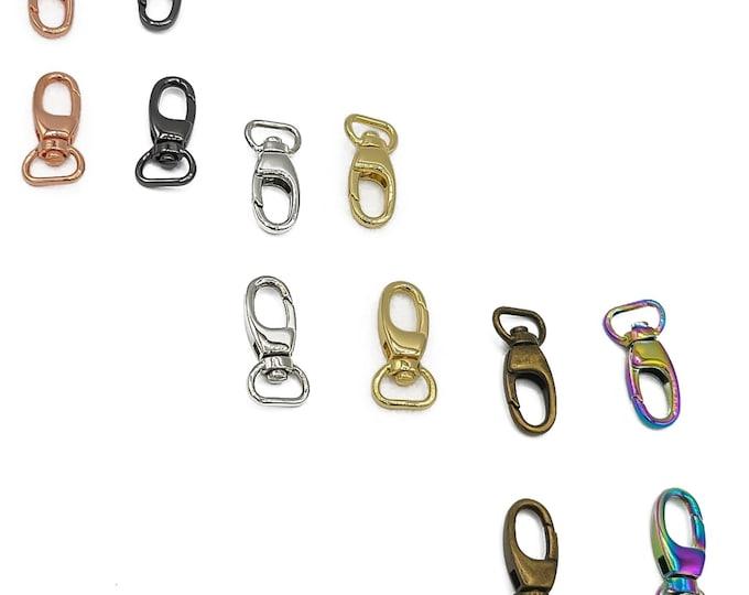 "Swivel Snap Hooks- 1/2"" inch - by Emmaline - .5"" inch - Half Inch - 12mm - Multiple Colors - Bag Hardware - ( HOOK-1/2INCH )"