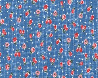 Tulip Garden Collection - Blue - Tulips - Floral - by Atsuko Matsuyama - YUWA - ( AMTULIP-BLUE )