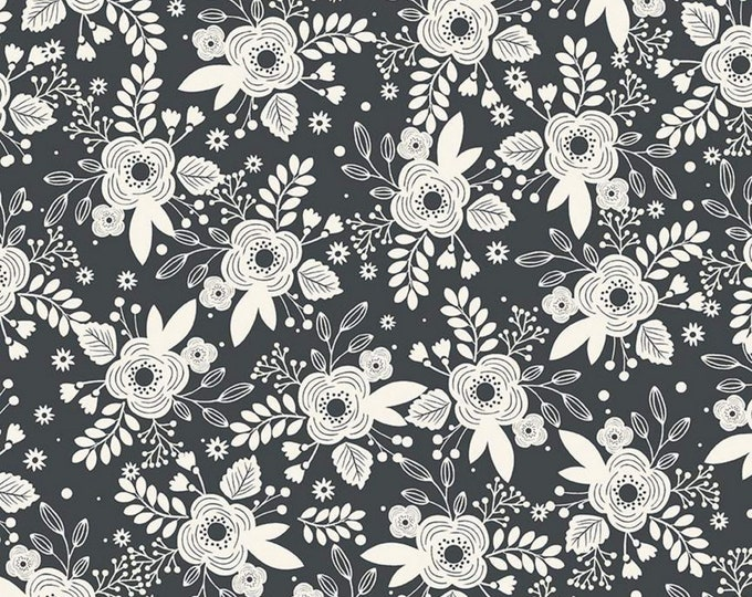 Charcoal - Main - My Heritage Collection - Quilting Cotton Fabric - by My Minds Eye for Riley Blake Designs - ( C9790-CHARCOAL )