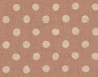 """Canvas - Blush - 1/2"""" inch Natural Dots - Cotton Flax Canvas - 43/44"""" inches wide - by Sevenberry - Robert Kaufman - ( SB-88185D2-4 )"""