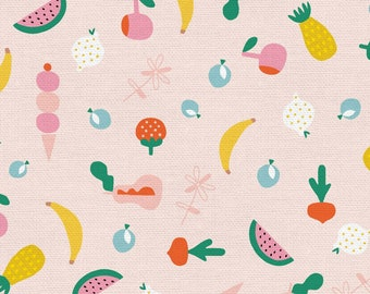 Animal Alphabet Collection - Pink - Fruity - Quilting Cotton Fabric - by Suzy Ultman of Paintbrush Studio - ( PSF120-21829 )
