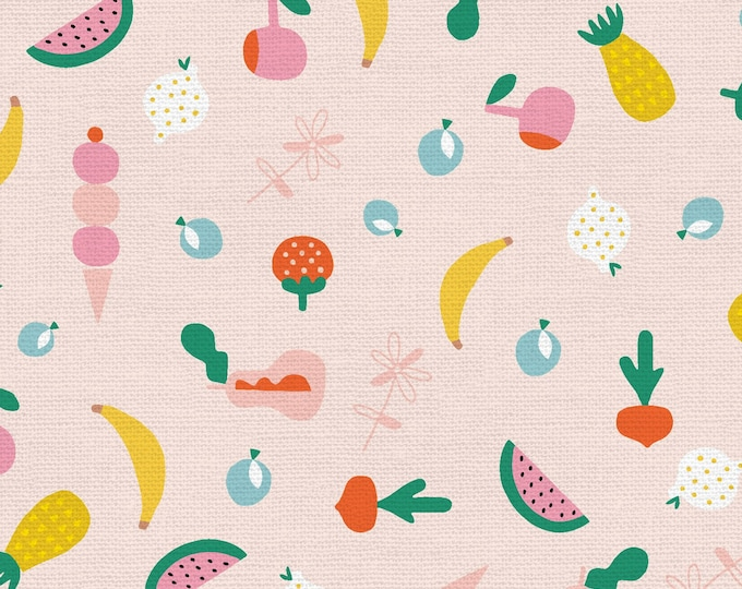 Pink - Fruity - Animal Alphabet - Quilting Cotton Fabric - by Suzy Ultman of Paintbrush Studio - ( PSF120-21829 )