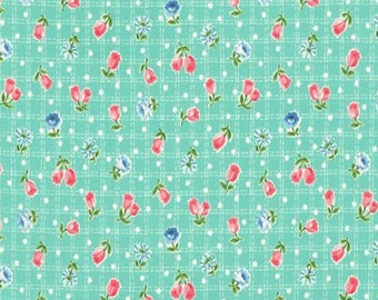 Tulip Garden Collection - Mint - Tulips - Floral - by Atsuko Matsuyama - ( AMTULIP-MINT )