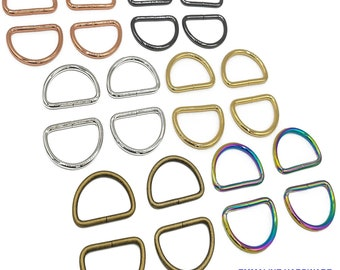 "D-Ring - 1-1/2"" - 1 1/2"" inch - One and Half Inch - 38mm - Bag Hardware - Multiple Colors - by Emmaline - ( DRNG-1.5INCH )"