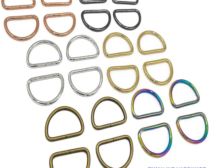 """D-Ring - 1-1/2"""" - by Emmaline - 1 1/2"""" inch - One and Half Inch - 38mm - Multiple Colors - Bag Hardware - ( DRNG-1.5INCH )"""