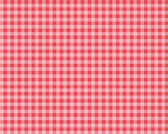 Strawberry Honey Collection - Red - Gingham - Quilting Cotton Fabric - by Gracey Larson for Riley Blake Designs - ( C10245-RED )
