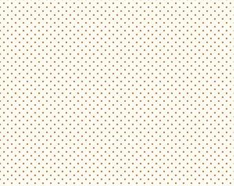 Le Creme Swiss Dot Collection - Orange - Polka Dot - Quilting Cotton Fabric - Riley Blake Designs - ( C600-60-ORANGE )