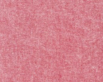 Red - Essex - Yarn Dyed - Linen Cotton - by Robert Kaufman - ( E064-RED )