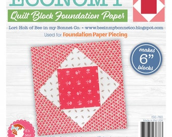 Foundation Paper Pad - Economy PLUS Quilt Block 6in - by Lori Holt - Its Sew Emma - Paper Pad - 6in - ( ISE-760 )