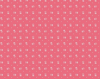 SALE - Prim Collection - Daisy - Tea Rose - Quilting Fabric - Lori Holt of Bee in My Bonnet for Riley Blake Designs - ( C9694-TEAROSE )