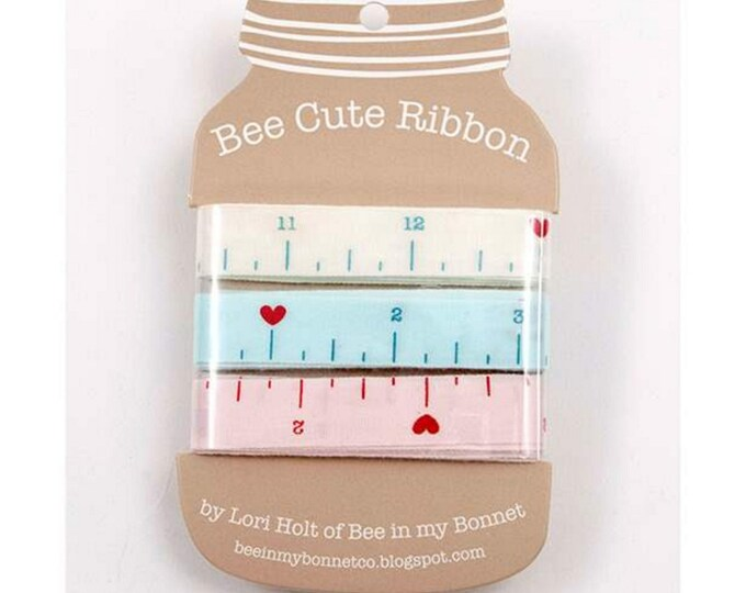 Bee Happy Ribbon Card - Lori Holt of Bee in My Bonnet for Riley Blake Designs - ( STMI-5559 )