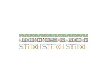 Washi Tape - Stitch Collection - Lori Holt of Bee in My Bonnet for Riley Blake Designs - ( ST-21961 )